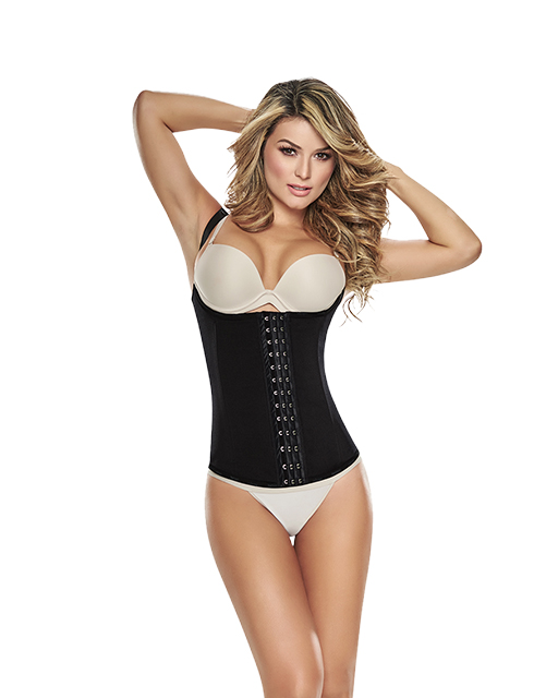 CIR Vest Cincher Black Front